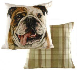 British Bulldog Dog Cushion