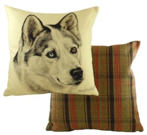 Husky Dog Cushion