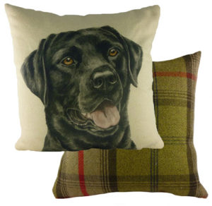 Black Labrador Dog Cushion