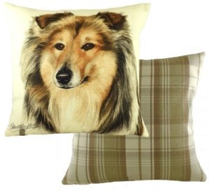 Rough Collie Dog Cushion