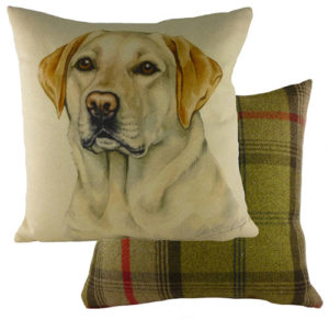 Golden Labrador Dog Cushion