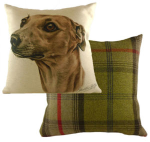 Whippet Dog Cushion