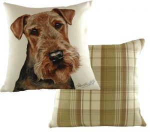Airedale Terrier Dog Cushion