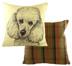 Miniature Poodle Dog Cushion