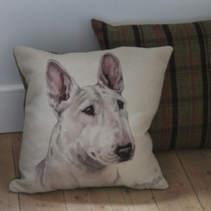 English Bull Terrier Dog Cushion