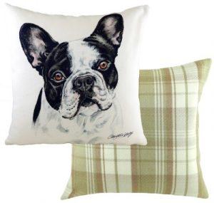 French Bulldog BW Dog Cushion