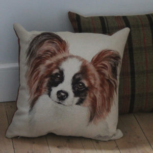 Papillon Dog Cushion