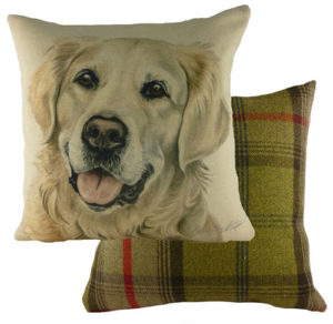 Golden Retriever Dog Cushion