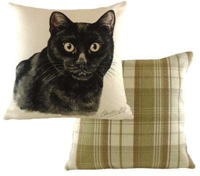 Black Cat Cushion