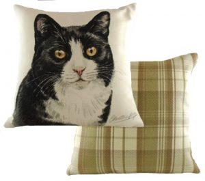 Black & White Cat Cushion