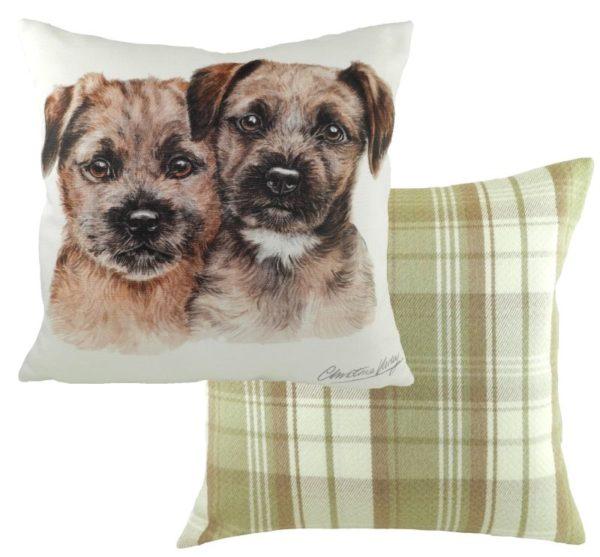 Border Terrier Puppies Cushion