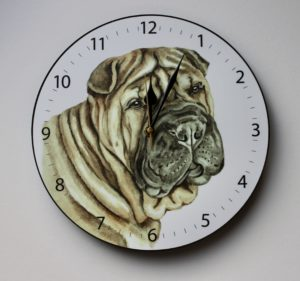 Shar Pei Dog Wall Clock CLK-239