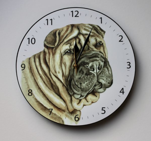 Shar Pei Dog Wall Clock CLK-239