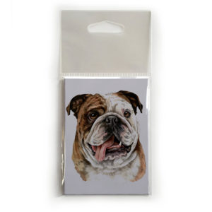 Fridge Magnet Dog Breed Gift featuring British Bulldog