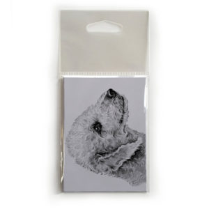 Fridge Magnet Dog Breed Gift featuring Bedlington Terrier