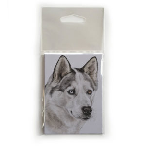 Fridge Magnet Dog Breed Gift featuring Husky