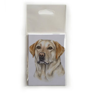 Fridge Magnet Dog Breed Gift featuring Golden Labrador