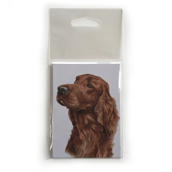 Fridge Magnet Dog Breed Gift featuring Irish Setter
