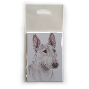 Fridge Magnet Dog Breed Gift featuring English Bull Terrier