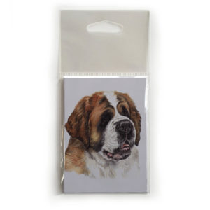 Fridge Magnet Dog Breed Gift featuring St. Bernard