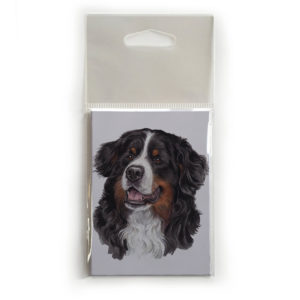 Fridge Magnet Dog Breed Gift featuring Bernese Mountain Dog