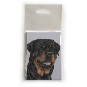 Fridge Magnet Dog Breed Gift featuring Rottweiler