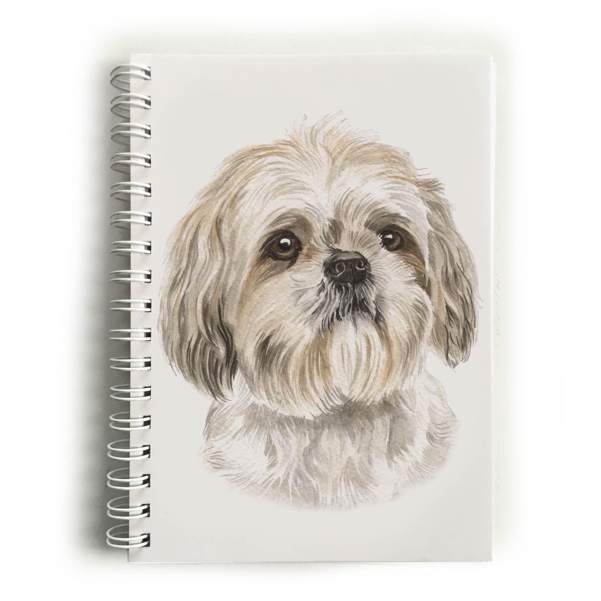 Shih Tzu Dog Notebook Nbk 129 Waggydogz
