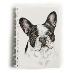 French Bulldog BW Notebook