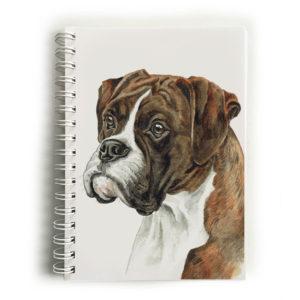 Brindle Boxer Dog Notebook