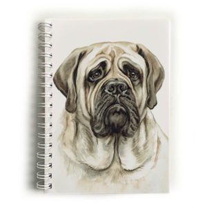 English Bull Mastiff Dog Notebook