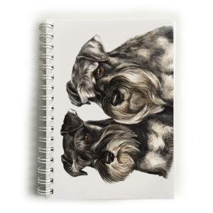 Miniature Schnauzer Pair Notebook