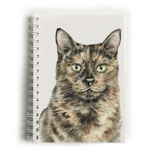 Tortoiseshell cat notebook