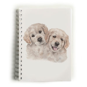 Golden Retriever Puppies Golden Retrievers Notebook