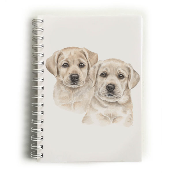 Yellow Labrador Puppies Labradors Notebook