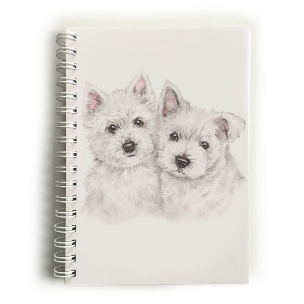 West Highland White Terrier Puppies Westies Notebook