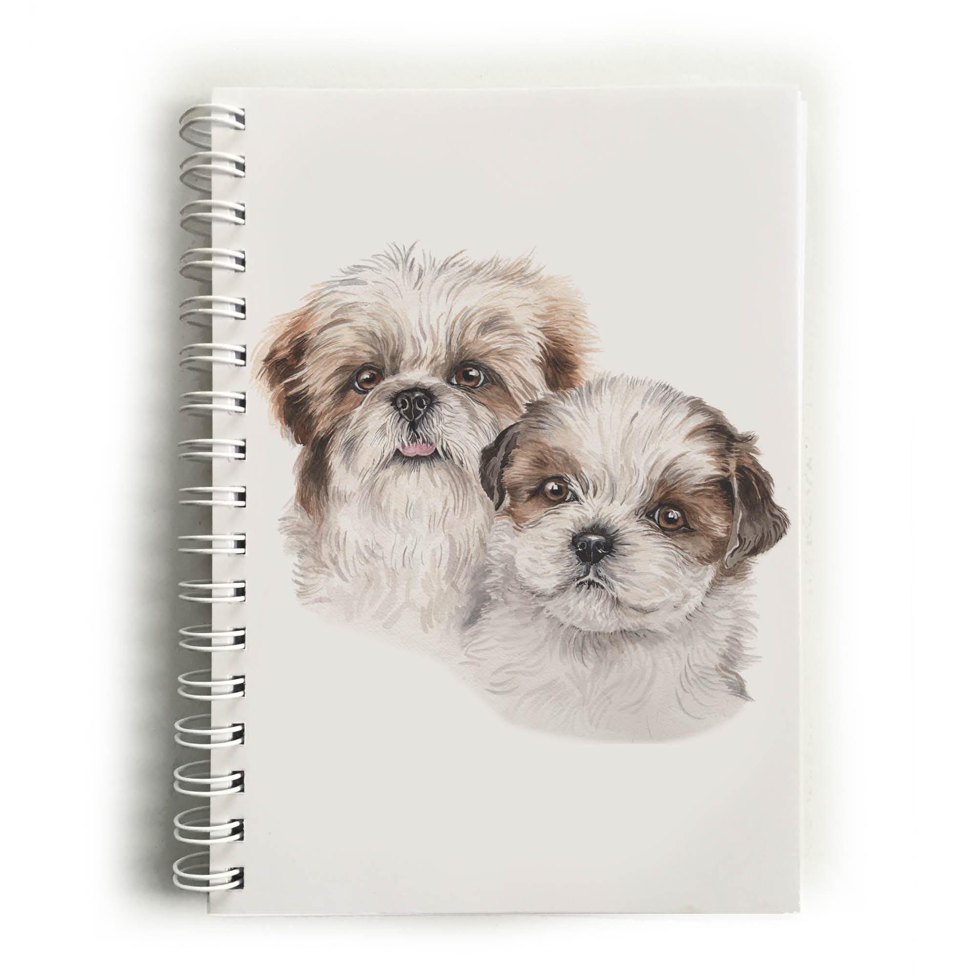 Shih Tzu Puppies Shih Tzus Notebook Nbk Pu11 Waggydogz