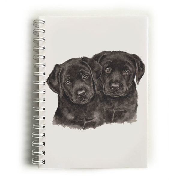 Black Labrador Puppies Black Labradors Notebook