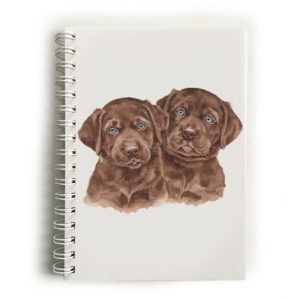 Chocolate Labrador Puppies Choc Labradors Notebook