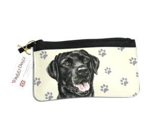 Black Labrador Dog Pencil Case Pouch Purse