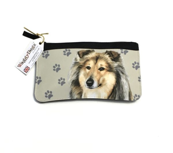 Rough Collie Dog Pencil Case Pouch Purse