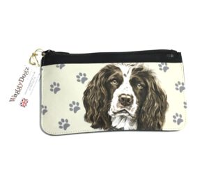 Springer Spaniel Dog Pencil Case Pouch Purse