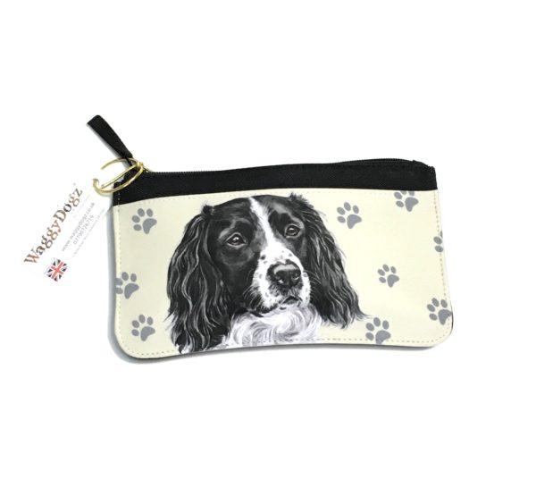 Springer Spaniel Dog Pencil Case Pouch Purse
