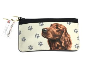 Irish Setter Dog Pencil Case Pouch Purse