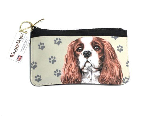 Cavalier King Charles Spaniel Dog Pencil Case Pouch Purse