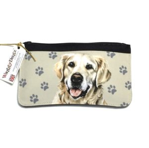 Golden Retreiver Dog Pencil Case Pouch Purse