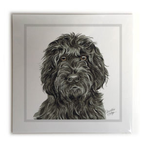 Black Cockapoo Dog Picture / Print