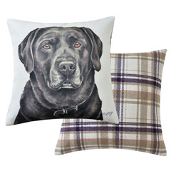 Chocolate Labrador Dog Cushion VCUS-105